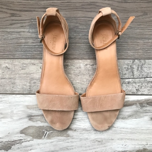 1ad31598bc8 J. Crew Factory Shoes - 🇺🇸 Suede Demi-wedge Sandal